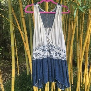 Free People Embroidered Tunic Tank